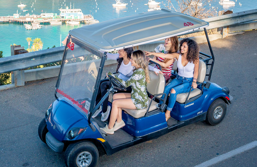 4 Person Golf Cart - Catalina Island